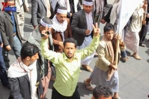 حملة 11 فبراير تخرج مسيرة حاشدة من ساحة التغيير بصنعاء تطالب باقالة و حاسبة حكومة الوفاق (161)