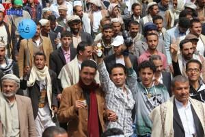 حملة 11 فبراير تخرج مسيرة حاشدة من ساحة التغيير بصنعاء تطالب باقالة و حاسبة حكومة الوفاق (180)