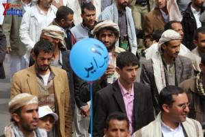 حملة 11 فبراير تخرج مسيرة حاشدة من ساحة التغيير بصنعاء تطالب باقالة و حاسبة حكومة الوفاق (181)