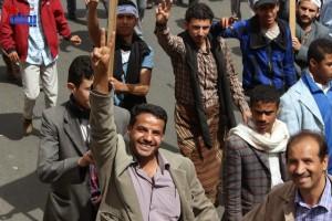 حملة 11 فبراير تخرج مسيرة حاشدة من ساحة التغيير بصنعاء تطالب باقالة و حاسبة حكومة الوفاق (187)