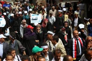 حملة 11 فبراير تخرج مسيرة حاشدة من ساحة التغيير بصنعاء تطالب باقالة و حاسبة حكومة الوفاق (188)