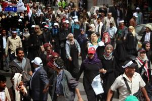 حملة 11 فبراير تخرج مسيرة حاشدة من ساحة التغيير بصنعاء تطالب باقالة و حاسبة حكومة الوفاق (189)