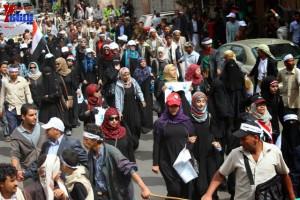 حملة 11 فبراير تخرج مسيرة حاشدة من ساحة التغيير بصنعاء تطالب باقالة و حاسبة حكومة الوفاق (190)