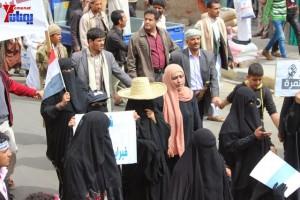 حملة 11 فبراير تخرج مسيرة حاشدة من ساحة التغيير بصنعاء تطالب باقالة و حاسبة حكومة الوفاق (192)