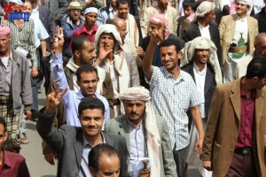 حملة 11 فبراير تخرج مسيرة حاشدة من ساحة التغيير بصنعاء تطالب باقالة و حاسبة حكومة الوفاق (194)