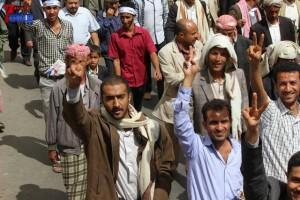 حملة 11 فبراير تخرج مسيرة حاشدة من ساحة التغيير بصنعاء تطالب باقالة و حاسبة حكومة الوفاق (195)