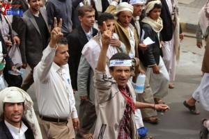 حملة 11 فبراير تخرج مسيرة حاشدة من ساحة التغيير بصنعاء تطالب باقالة و حاسبة حكومة الوفاق (196)