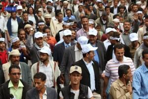حملة 11 فبراير تخرج مسيرة حاشدة من ساحة التغيير بصنعاء تطالب باقالة و حاسبة حكومة الوفاق (198)