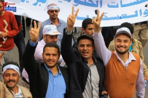 حملة 11 فبراير تخرج مسيرة حاشدة من ساحة التغيير بصنعاء تطالب باقالة و حاسبة حكومة الوفاق (205)