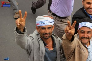 حملة 11 فبراير تخرج مسيرة حاشدة من ساحة التغيير بصنعاء تطالب باقالة و حاسبة حكومة الوفاق (206)