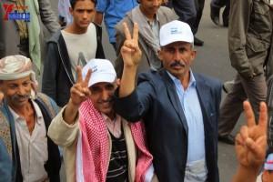 حملة 11 فبراير تخرج مسيرة حاشدة من ساحة التغيير بصنعاء تطالب باقالة و حاسبة حكومة الوفاق (210)