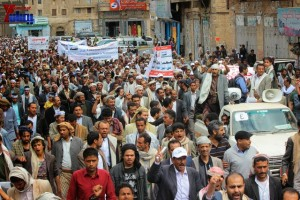 حملة 11 فبراير تخرج مسيرة حاشدة من ساحة التغيير بصنعاء تطالب باقالة و حاسبة حكومة الوفاق (213)