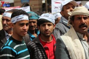 حملة 11 فبراير تخرج مسيرة حاشدة من ساحة التغيير بصنعاء تطالب باقالة و حاسبة حكومة الوفاق (217)