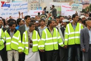 حملة 11 فبراير تخرج مسيرة حاشدة من ساحة التغيير بصنعاء تطالب باقالة و حاسبة حكومة الوفاق (220)