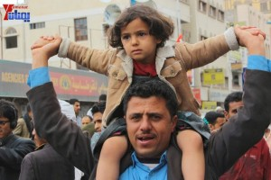 حملة 11 فبراير تخرج مسيرة حاشدة من ساحة التغيير بصنعاء تطالب باقالة و حاسبة حكومة الوفاق (227)