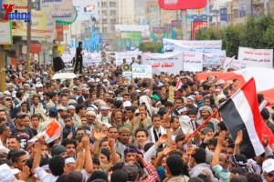 حملة 11 فبراير تخرج مسيرة حاشدة من ساحة التغيير بصنعاء تطالب باقالة و حاسبة حكومة الوفاق (245)