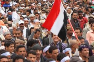 حملة 11 فبراير تخرج مسيرة حاشدة من ساحة التغيير بصنعاء تطالب باقالة و حاسبة حكومة الوفاق (247)