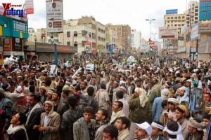 حملة 11 فبراير تخرج مسيرة حاشدة من ساحة التغيير بصنعاء تطالب باقالة و حاسبة حكومة الوفاق (258)