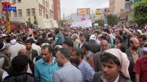 حملة 11 فبراير تخرج مسيرة حاشدة من ساحة التغيير بصنعاء تطالب باقالة و حاسبة حكومة الوفاق (260)