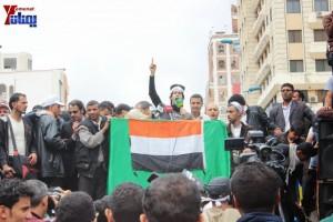 حملة 11 فبراير تخرج مسيرة حاشدة من ساحة التغيير بصنعاء تطالب باقالة و حاسبة حكومة الوفاق (261)