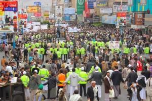 حملة 11 فبراير تخرج مسيرة حاشدة من ساحة التغيير بصنعاء تطالب باقالة و حاسبة حكومة الوفاق (264)