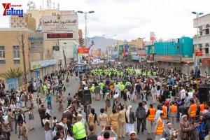 حملة 11 فبراير تخرج مسيرة حاشدة من ساحة التغيير بصنعاء تطالب باقالة و حاسبة حكومة الوفاق (265)