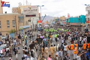 حملة 11 فبراير تخرج مسيرة حاشدة من ساحة التغيير بصنعاء تطالب باقالة و حاسبة حكومة الوفاق (267)