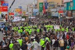 حملة 11 فبراير تخرج مسيرة حاشدة من ساحة التغيير بصنعاء تطالب باقالة و حاسبة حكومة الوفاق (269)