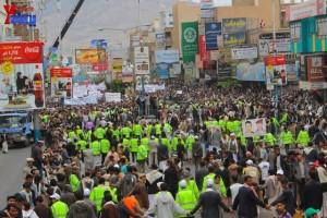 حملة 11 فبراير تخرج مسيرة حاشدة من ساحة التغيير بصنعاء تطالب باقالة و حاسبة حكومة الوفاق (270)