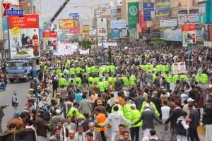 حملة 11 فبراير تخرج مسيرة حاشدة من ساحة التغيير بصنعاء تطالب باقالة و حاسبة حكومة الوفاق (271)