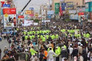حملة 11 فبراير تخرج مسيرة حاشدة من ساحة التغيير بصنعاء تطالب باقالة و حاسبة حكومة الوفاق (272)