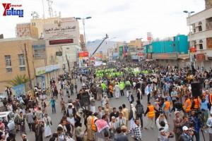 حملة 11 فبراير تخرج مسيرة حاشدة من ساحة التغيير بصنعاء تطالب باقالة و حاسبة حكومة الوفاق (273)
