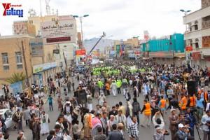 حملة 11 فبراير تخرج مسيرة حاشدة من ساحة التغيير بصنعاء تطالب باقالة و حاسبة حكومة الوفاق (274)