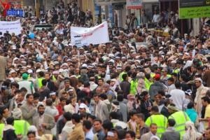 حملة 11 فبراير تخرج مسيرة حاشدة من ساحة التغيير بصنعاء تطالب باقالة و حاسبة حكومة الوفاق (276)