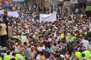 حملة 11 فبراير تخرج مسيرة حاشدة من ساحة التغيير بصنعاء تطالب باقالة و حاسبة حكومة الوفاق (277)