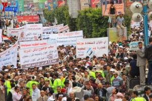 حملة 11 فبراير تخرج مسيرة حاشدة من ساحة التغيير بصنعاء تطالب باقالة و حاسبة حكومة الوفاق (278)