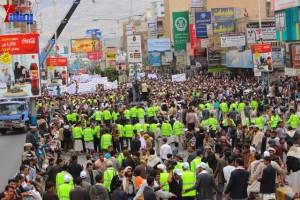 حملة 11 فبراير تخرج مسيرة حاشدة من ساحة التغيير بصنعاء تطالب باقالة و حاسبة حكومة الوفاق (279)