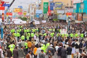 حملة 11 فبراير تخرج مسيرة حاشدة من ساحة التغيير بصنعاء تطالب باقالة و حاسبة حكومة الوفاق (284)