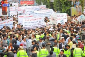 حملة 11 فبراير تخرج مسيرة حاشدة من ساحة التغيير بصنعاء تطالب باقالة و حاسبة حكومة الوفاق (285)