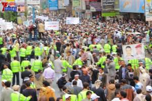 حملة 11 فبراير تخرج مسيرة حاشدة من ساحة التغيير بصنعاء تطالب باقالة و حاسبة حكومة الوفاق (286)