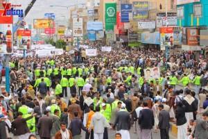حملة 11 فبراير تخرج مسيرة حاشدة من ساحة التغيير بصنعاء تطالب باقالة و حاسبة حكومة الوفاق (287)