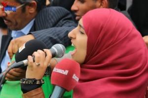 حملة 11 فبراير تخرج مسيرة حاشدة من ساحة التغيير بصنعاء تطالب باقالة و حاسبة حكومة الوفاق (288)