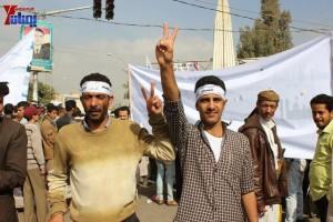 حملة 11 فبراير تخرج مسيرة حاشدة من ساحة التغيير بصنعاء تطالب باقالة و حاسبة حكومة الوفاق (29)