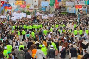حملة 11 فبراير تخرج مسيرة حاشدة من ساحة التغيير بصنعاء تطالب باقالة و حاسبة حكومة الوفاق (290)