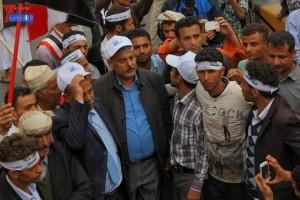 حملة 11 فبراير تخرج مسيرة حاشدة من ساحة التغيير بصنعاء تطالب باقالة و حاسبة حكومة الوفاق (293)