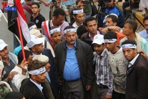 حملة 11 فبراير تخرج مسيرة حاشدة من ساحة التغيير بصنعاء تطالب باقالة و حاسبة حكومة الوفاق (296)
