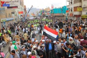حملة 11 فبراير تخرج مسيرة حاشدة من ساحة التغيير بصنعاء تطالب باقالة و حاسبة حكومة الوفاق (298)