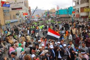 حملة 11 فبراير تخرج مسيرة حاشدة من ساحة التغيير بصنعاء تطالب باقالة و حاسبة حكومة الوفاق (299)
