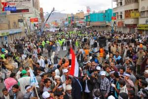 حملة 11 فبراير تخرج مسيرة حاشدة من ساحة التغيير بصنعاء تطالب باقالة و حاسبة حكومة الوفاق (300)