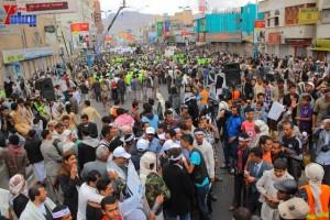 حملة 11 فبراير تخرج مسيرة حاشدة من ساحة التغيير بصنعاء تطالب باقالة و حاسبة حكومة الوفاق (301)